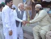 لاہور: تحریک انصاف کے حلقہ این اے133سے نامزد امیدوار اعجاز احمد چوہدری ..