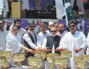 پشاور: کمشنر ڈیرہ اسماعیل خان غفور بیگ انڈر23گیمز کا باضابطہ افتتاح ..