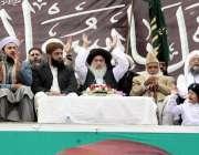 راولپنڈی: لیاقت باغ میں منعقدہ تاجدار ختم نبوت کانفرنس کے موقع پر علامہ ..