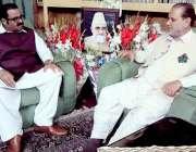 راولپنڈی: اپوزیشن لیڈر چوہدری محمد یاسین مجاہد منزل میں سابق وزیراعظم ..