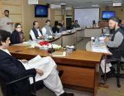 اسلام آباد: وفاقی وزیر پلاننگ، ڈویلپمنٹ اینڈ ریفارم مخدوم خسرو بختیار ..