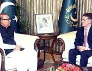 اسلام آباد: صدر مملکت ڈاکٹر عارف علوی سے آذر بائی جان کے سفیر علی فکرت ..
