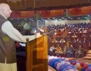 لاہور: گورنر پنجاب چوہدری محمد سرور ایوان اقبال میں یوتھ امپاورمنٹ ..