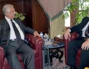 پشاور: گورنر خیبر پختونخوا انجینئر اقبال ظفر جھگڑا سے امریکی قونصلر ..