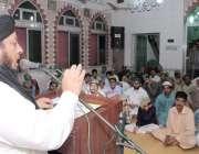 لاہور: پاکستان سنی تحریک پنجاب کے صدر علامہ مجاہد عبدالرسول جامع مسجد ..