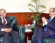 اسلام آباد: وزیر مملکت برائے ہیلتھ نوید کامران ، نگران وزیر برائے ہیلتھ ..