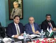 لاہور: لاہور چیمبر آف کامرس میں اجلاس کی موقع پر صدر ملک طاہر جاوید، ..