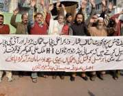 لاہور: سمسانی پنڈ جوہر ٹاؤن کے رہائشی اپنے مطالبات کے حق میں احتجاج ..