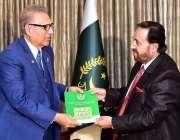 اسلام آباد: صدر مملکت ڈاکٹر عارف علوی کو چیئرمین پریس کونسل آف پاکستان ..