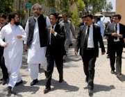 راولپنڈی: سابق وزیراعظم شاہد خاقان عباسی اپلیٹ ٹریبونل سماعت کے کے ..