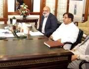 لاہور: وزیر اعلیٰ پنجاب سردار عثمان بزدار سے وزیر اعلیٰ آفس میں اراکین ..
