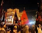 راولپنڈی: نیا محلہ سے برآمد ہونیوالے محرم الحرام کا مرکزی جلوس مقامی ..