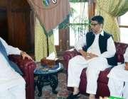 پشاور: گورنر خیبر پختونخوا انجینئر اقبال ظفر جھگڑا سے ڈی جی آڈٹ خیبر ..