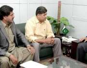 لاہور: صوبائی وزیر قانون و پارلیمانی امور راجہ بشارت سول سیکرٹریٹ میں ..