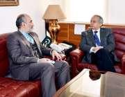 اسلام آباد: وزیر اعظم کے مشیر عبدالرزاق داؤد سے ایران کے سفیر مہدی ہنر ..