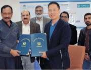 زرعی یونیورسٹیج فیصل آباد کے وائس چانسلر ڈاکٹر محمد اقبال ظفر اور چین ..