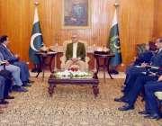 اسلام آباد:صدر مملکت ڈاکٹر عارف علوی سے سرگودھا چیمبر آف کامرس اینڈ ..