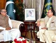 اسلام آباد: صدر مملکت ڈاکٹر عارف علوی سے وزیر مملکت برائے سائنس اینڈ ..