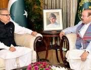 اسلام آباد: صدر مملکت ڈاکٹر عارف علوی سے سابق وزیر اعظم آزاد کشمیر بیرسٹر ..