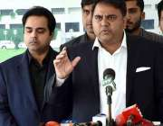 اسلام آباد: وفاقی وزیر برائے اطلاعات و نشریات فواد حسین چوہدری میڈیا ..
