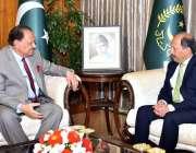 اسلام آباد: صدر مملکت ممنون حسین سے آسٹریلیا کے لیے نو منتخب سفیر منصور ..