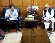 مظفر آباد: وزیراعظم آزاد کشمیر راجہ فاروق حیدد خان سے لبریشن فرنٹ کا ..