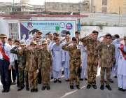 راولپنڈی: یوم دفاع پاکستان کے موقع پر سپرٹ سکول کے طلبہ و طالبات ٹیبلو ..