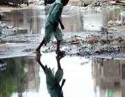 حیدر آباد: رشی گھاٹ کے علاقہ میں سیوریج کا پانی انتظامیہ کی توجہ کا ..