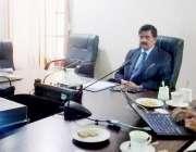 لاہور: صوبائی وزیر بہبود آبادی کرنل (ر) ہاشم ڈوگر یو ایس ایڈ کے وفد سے ..