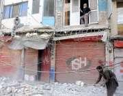 راولپنڈی: کمیٹی چوک کے قریب انتظامیہ کی طرف سے تجاوزات آپریشن کیا جارہا ..