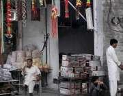 اسلام آباد: دکاندار باربی کیو اور قربانی کے جانوروں کا سامان روڈ کنارے ..