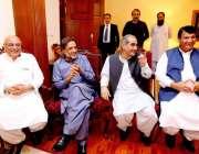 اسلام آباد: آل پارٹیز کانفرنس میں مسلم لیگ (ن) کے رہنما خواجہ سعد رفیق، ..