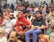لاہور: ایوان اقبال میں منعقدہ تقریب میں شریک طلبہ صوبائی وزیر کی تقریر ..