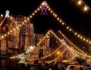 راولپنڈی: عید میلاد النبیﷺ کے حوالے سے تاجروں نے سرکلر روڈ کو خوبصورتی ..