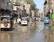 حیدر آباد: ناکہ روڈ رپر سیوریج کے پانی کے باعث شہریوں کو مشکلات کا سامنا ..