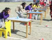 حیدرآباد: ایڈمن کرامر سکول کے سپورٹس ڈے کے موقع پر بچے مختلف کھیلوں ..