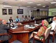 اسلام آباد: نگران وفاقی وزیر برائے ٹیکنیکل ایجوکیشن محمد یوسف شیخ علامہ ..