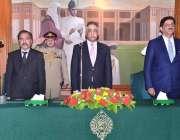 کراچی: گورنر سندھ محمد زبیر، سابق وزیراعلیٰ سندھ سید مراد علی شاہ اور ..