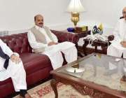اسلام آباد: صدر آزاد کشمیر سردار مسعود خان سے نو تعینات مشیران ملاقات ..