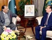 اسلام آباد: صدر مملکت ممنون حسین سے گورنر گلگت بلتستان میر غضنفر علی ..