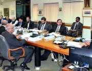اسلام آباد: چیئرمین نیب جسٹس (ر) جاوید اقبال نیب ہیڈ کوارٹر میں محکمانہ ..