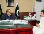 اسلام آباد: وفاقی وزیر صحت عامر محمود کیانی سے صدر تحریک انصاف شمالی ..