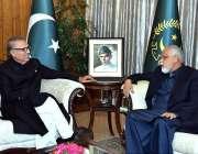 اسلام آباد: صدر مملکت ڈاکٹر عارف علوی سے ایم این اے محمد نجیب ہارون ..