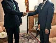 اسلام آباد: سری لنکن سفارتخانے میں ہیڈ آف چانسری/ایمبیسڈر محمد انس ..