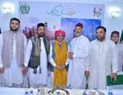 نیو دہلی: پاکستان کے ہائی کمشنر سہیل محمود کا افطار ڈنر کے موقع پر گروپ ..