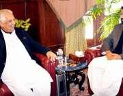 پشاور: گورنر خیبر پختونحوا انجینئر اقبال ظفر جھگڑا سے رکن صوبائی اسمبلی ..