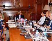 کراچی: گورنر سندھ محمد زبیر کی صدارت میں گورنر ہاؤس میں سی پی ایل کے ..