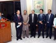 اسلام آباد: جاپان کے سفیر تاکاشی کیورائی ایک تقریب کے موقع پر خطاب کر ..