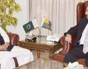 مظفر آباد: صدر آزاد کشمیر سردار مسعود خان سے وزیر اعظم آزاد کشمیر راجہ ..