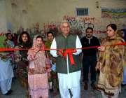 فیصل آباد: وفاقی وزیر برائے ٹیکسٹائل اینڈ کامرس حاجی اکرم انصاری گورنمنٹ ..